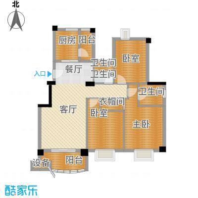 新澳蓝草坪113.43㎡房型户型1室1厅3卫1厨