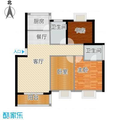 太平洋名苑98.25㎡-户型2室1厅2卫1厨