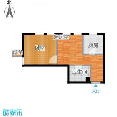 紫金广场41.51㎡A户型1室1厅1卫