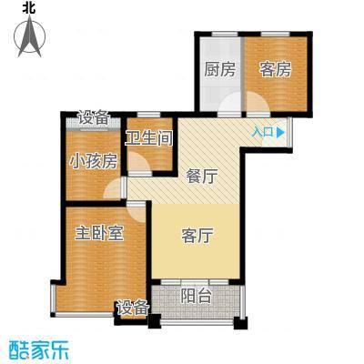 碧桂园滨海城94.00㎡J410-A户型3室2厅1卫