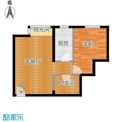 星河18560.04㎡A楼C2-2户型1室1厅1卫1厨