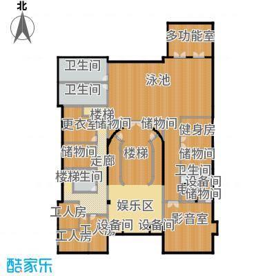 财富城堡621.00㎡b1-14地下一层平面图户型10室