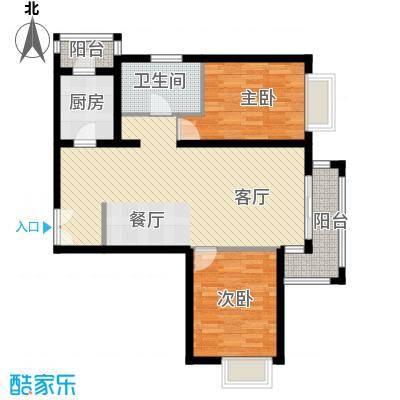 金润凤凰洲101.76㎡B14、5号楼户型2室2厅1卫