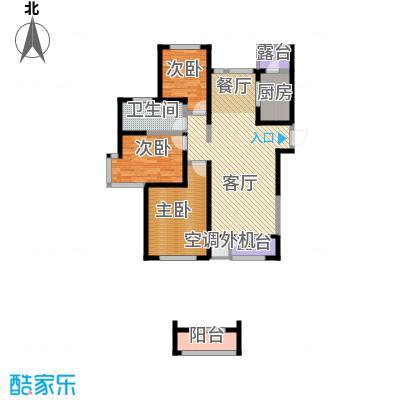 格调艺术领地146.00㎡9号楼-01户型3室2厅1卫