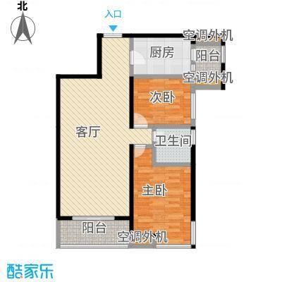 光谷新世界94.00㎡B1户型2室2厅1卫