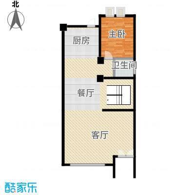 复地温莎堡92.80㎡联排C一层平面图户型6室2厅5卫