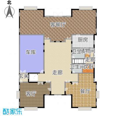 财富城堡493.08㎡b1-7首层平面图户型10室