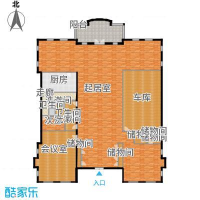 财富城堡567.00㎡b1-10首层平面图户型10室