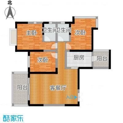 仁和春天国际花园127.32㎡A3双卫户型3室2厅2卫
