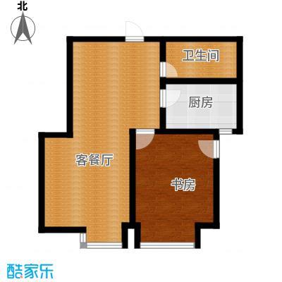 绿岛公寓66.99㎡C型户型1室1厅1卫