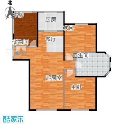 金泰丽舍115.00㎡A户型3室2厅1卫