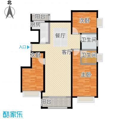 金润凤凰洲123.49㎡C58、9、17号楼户型3室2厅2卫