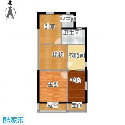 贻成水木清华86.40㎡别墅三期TH1二层户型10室