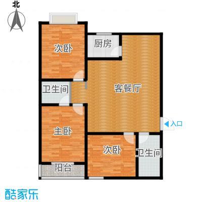 景泰花苑139.22㎡户型3室1厅2卫1厨