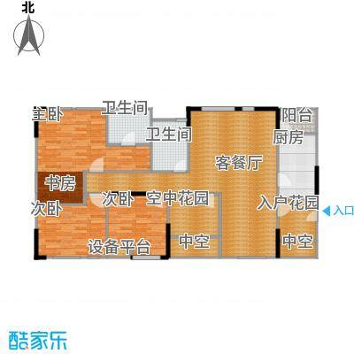 北城国际中心125.43㎡户型3室1厅2卫1厨