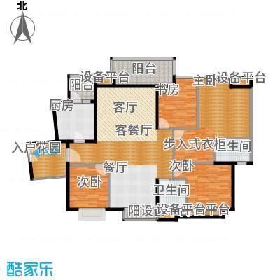 珊瑚水岸140.00㎡二期136栋1号房5栋2号房户型4室2厅2卫