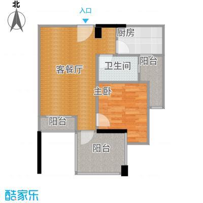 芭厘芭厘44.00㎡A1双阳台户型1室1厅1卫1厨