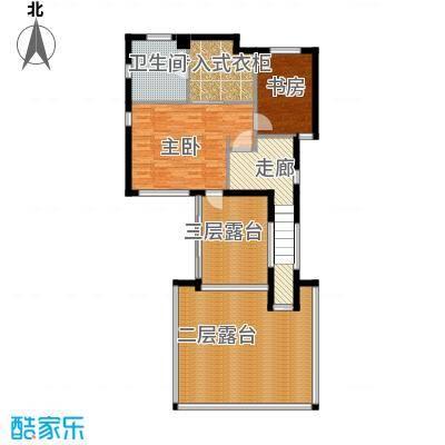 富力湾・半岛别墅114.83㎡H2三层平面图户型10室