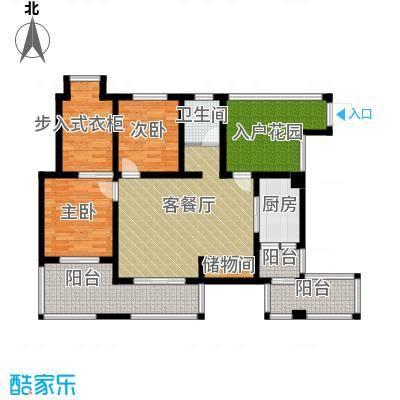 香榭国际81.67㎡2011年2期1批次C4户型3室2厅1卫