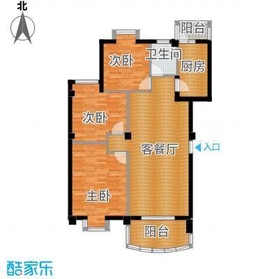 新澳蓝草坪113.43㎡房型户型3室1厅1卫1厨