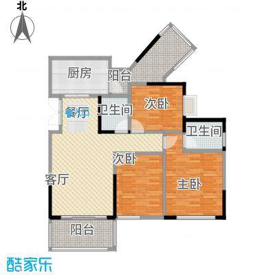 斌鑫中央国际公园87.41㎡一期24-26号楼标准层户型3室2厅2卫