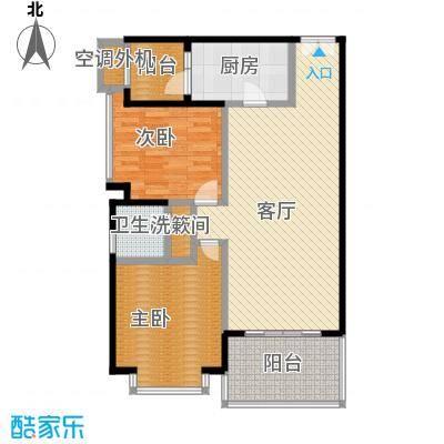仁和春天国际花园94.08㎡7号楼A4户型2室2厅1卫