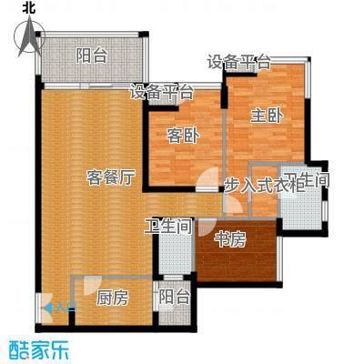 金辉苹果城103.56㎡-户型3室1厅2卫1厨