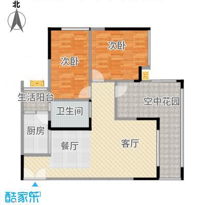 华宇春江花月86.11㎡7号楼5号房户型2室1厅1卫1厨