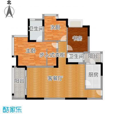金辉苹果城113.26㎡-户型3室1厅2卫1厨
