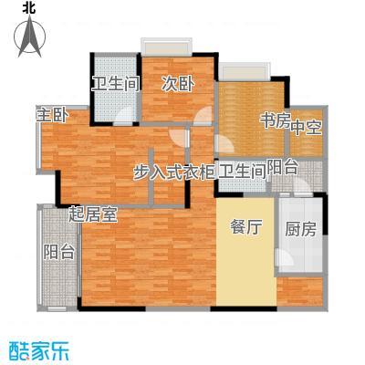 金辉苹果城122.81㎡户型3室2卫1厨