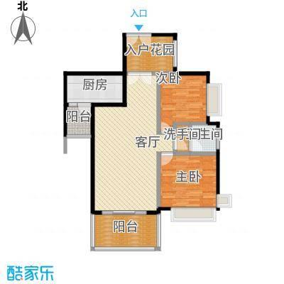 仁和春天国际花园95.60㎡7号楼B4户型2室2厅1卫