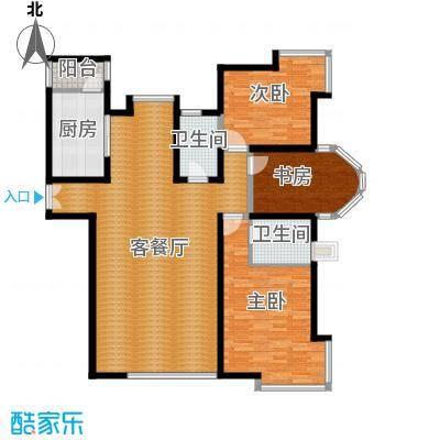 海河大道宽景公寓136.11㎡8号楼1门03户型10室