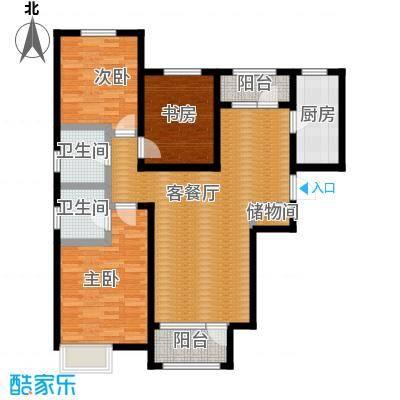 保利海棠湾133.00㎡户型3室2厅2卫