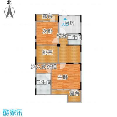 复地温莎堡92.86㎡联排C二层平面图户型6室2厅5卫