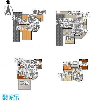凤凰墅983.83㎡楼层平面图户型10室