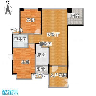奥克斯广场98.00㎡一期标准层F2户型2室1厅1卫1厨