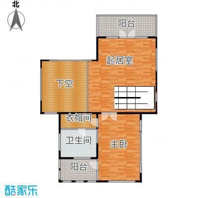 康城暖山92.98㎡图为B1-1二层户型1室1卫
