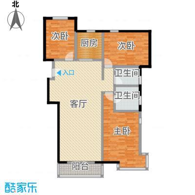 京东领秀城129.80㎡一号楼标准层C1户型3室2厅2卫