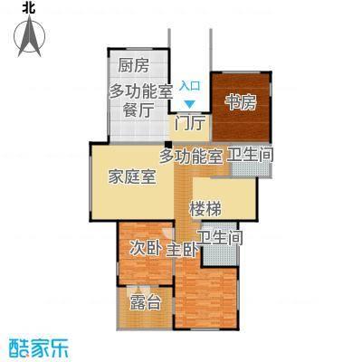 康城暖山159.01㎡图为B1-1一层户型3室2卫