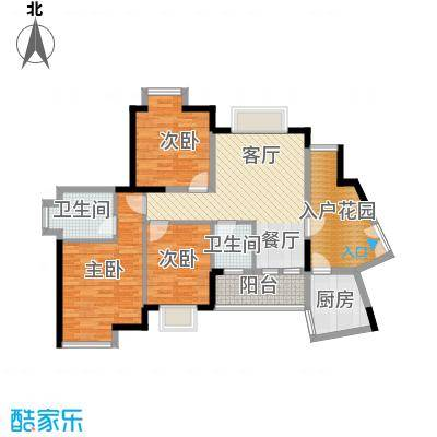 世纪金源御府80.77㎡图为15栋01/04户型3室1厅2卫1厨