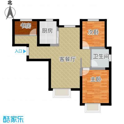 旭辉澜郡98.88㎡环景瞰湖公馆Q标准层户型3室2厅1卫
