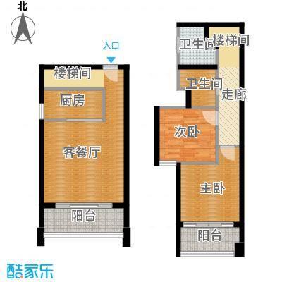 富兴御园89.26㎡公寓-空中别院户型2室1厅1卫