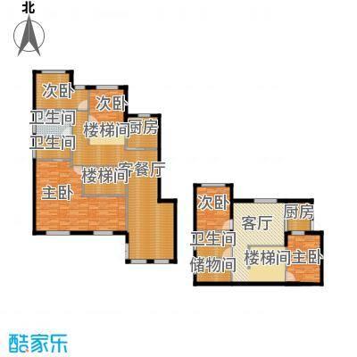 富兴御园135.97㎡类别墅K1-2带地下室户型4室2厅2卫