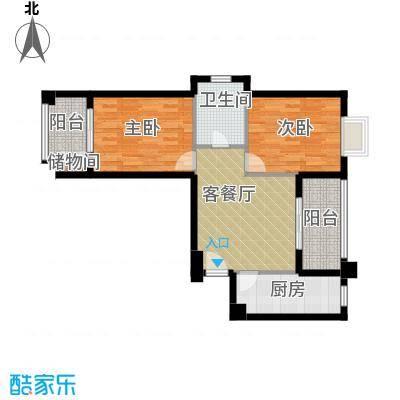�口金利屋87.00㎡A1户型2室1厅1卫1厨