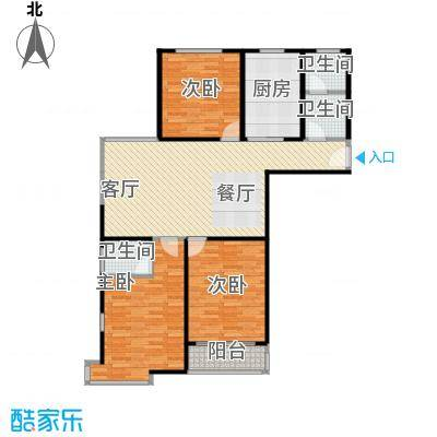 兴源家园115.15㎡户型3室1厅3卫1厨
