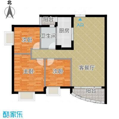 世纪金源御府88.56㎡图为15栋02/03户型3室1厅1卫1厨