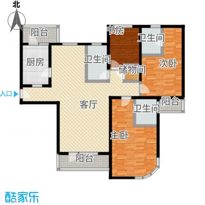 仁恒海河广场134.87㎡3#楼2门033户型3室2厅2卫