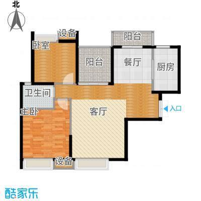 新世界恒大华府104.00㎡1/2号楼B2户型2室2厅1卫