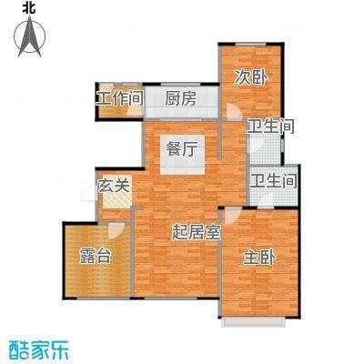 宜和澜岸111.32㎡A4顶层户型10室