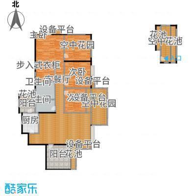 天府世家136.00㎡B1户型3室1厅2卫1厨